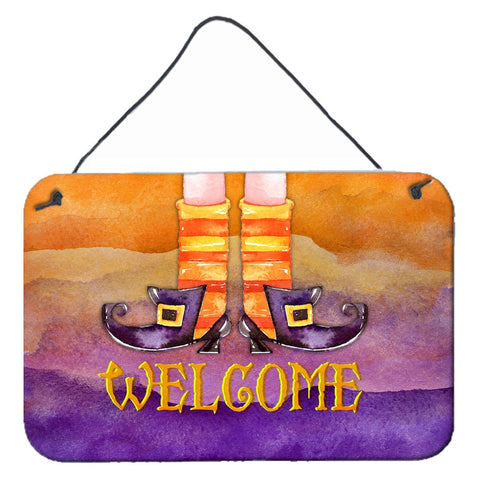 Buy this Halloween Welcome Witches Feet Wall or Door Hanging Prints BB7459DS812