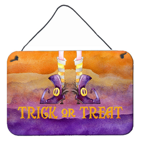 Buy this Halloween Trick Witches Feet Wall or Door Hanging Prints BB7460DS812