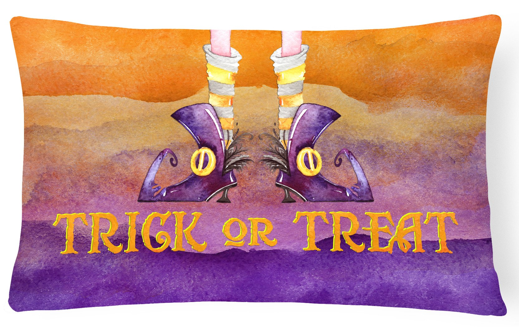 Halloween Trick Witches Feet Canvas Fabric Decorative Pillow BB7460PW1216 by Caroline's Treasures
