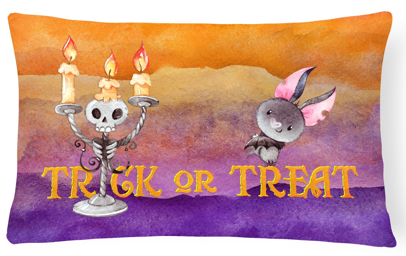 Halloween Trick or Treat Canvas Fabric Decorative Pillow BB7461PW1216 by Caroline's Treasures
