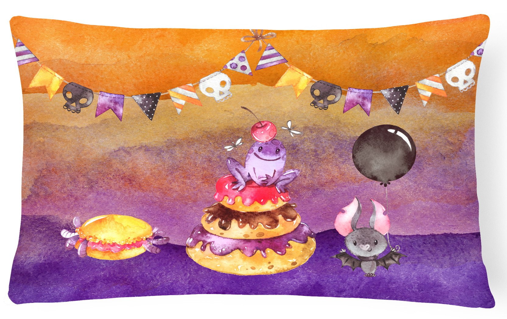 Halloween Sweets Party Canvas Fabric Decorative Pillow BB7463PW1216 by Caroline's Treasures