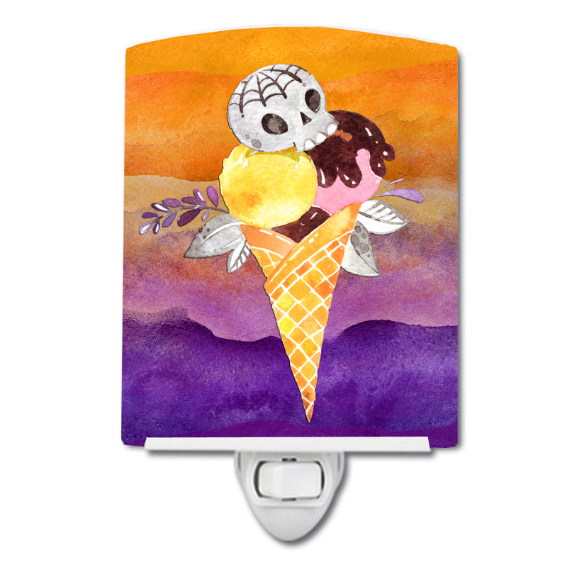 Buy this Halloween Sweets Ice Cream Skull Ceramic Night Light BB7464CNL