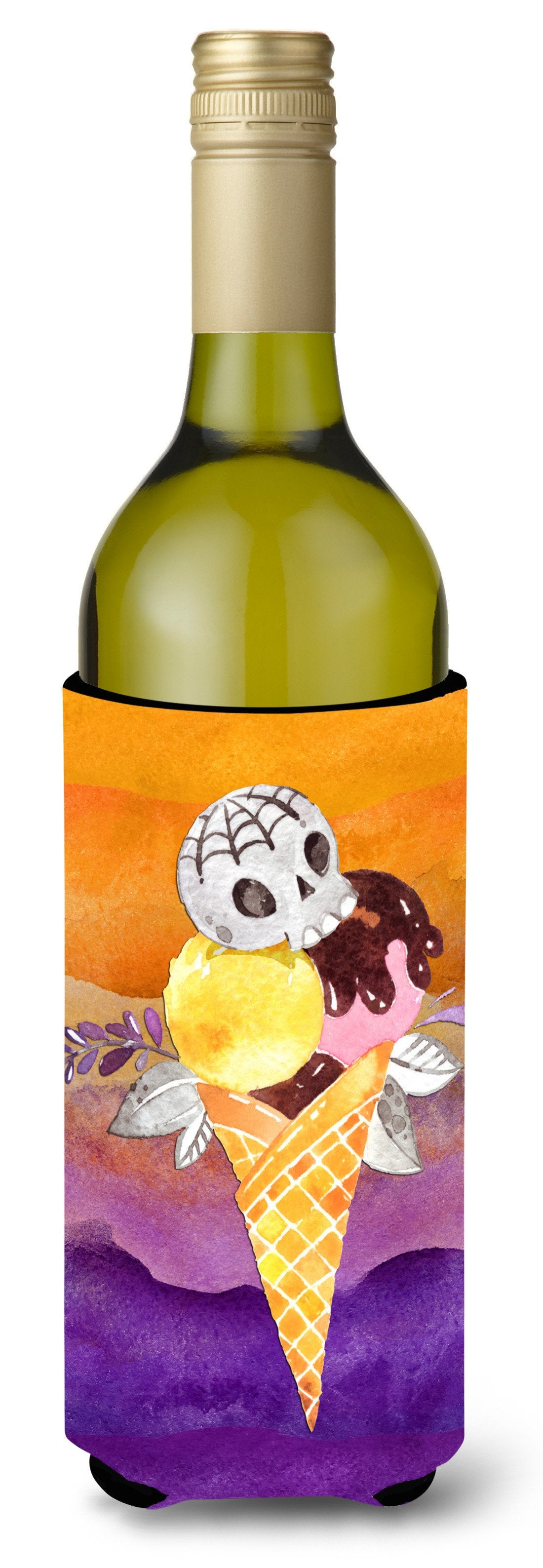 Buy this Halloween Sweets Ice Cream Skull Wine Bottle Beverge Insulator Hugger BB7464LITERK