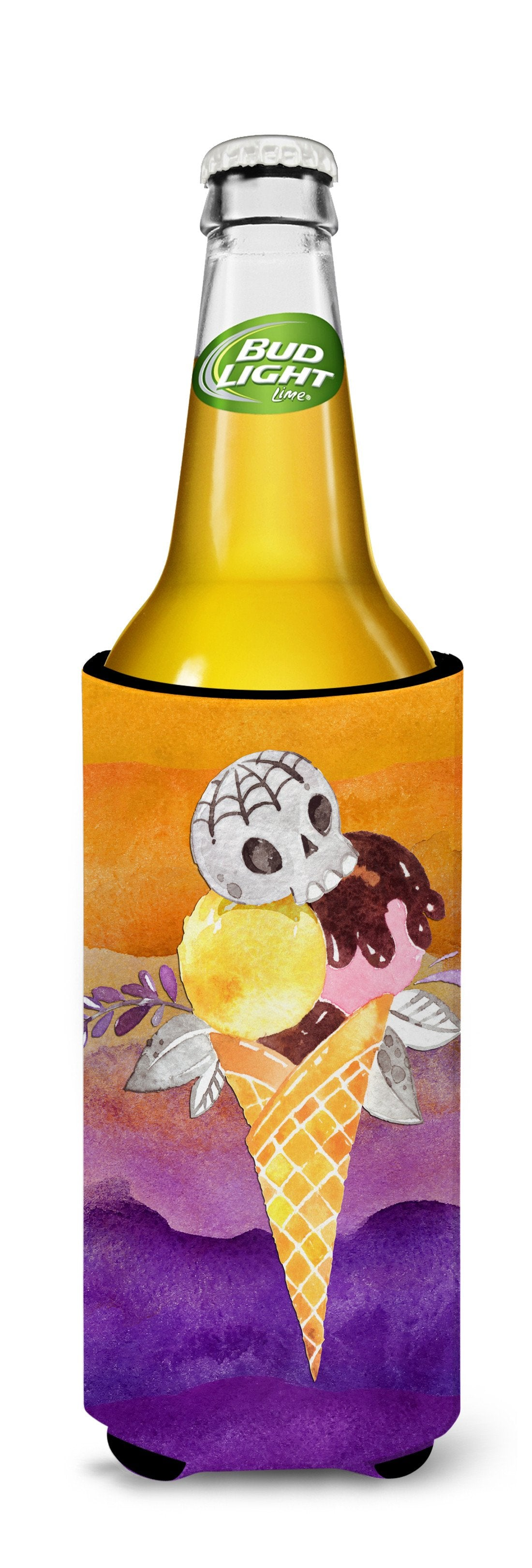 Halloween Sweets Ice Cream Skull Michelob Ultra Hugger for slim cans BB7464MUK by Caroline's Treasures