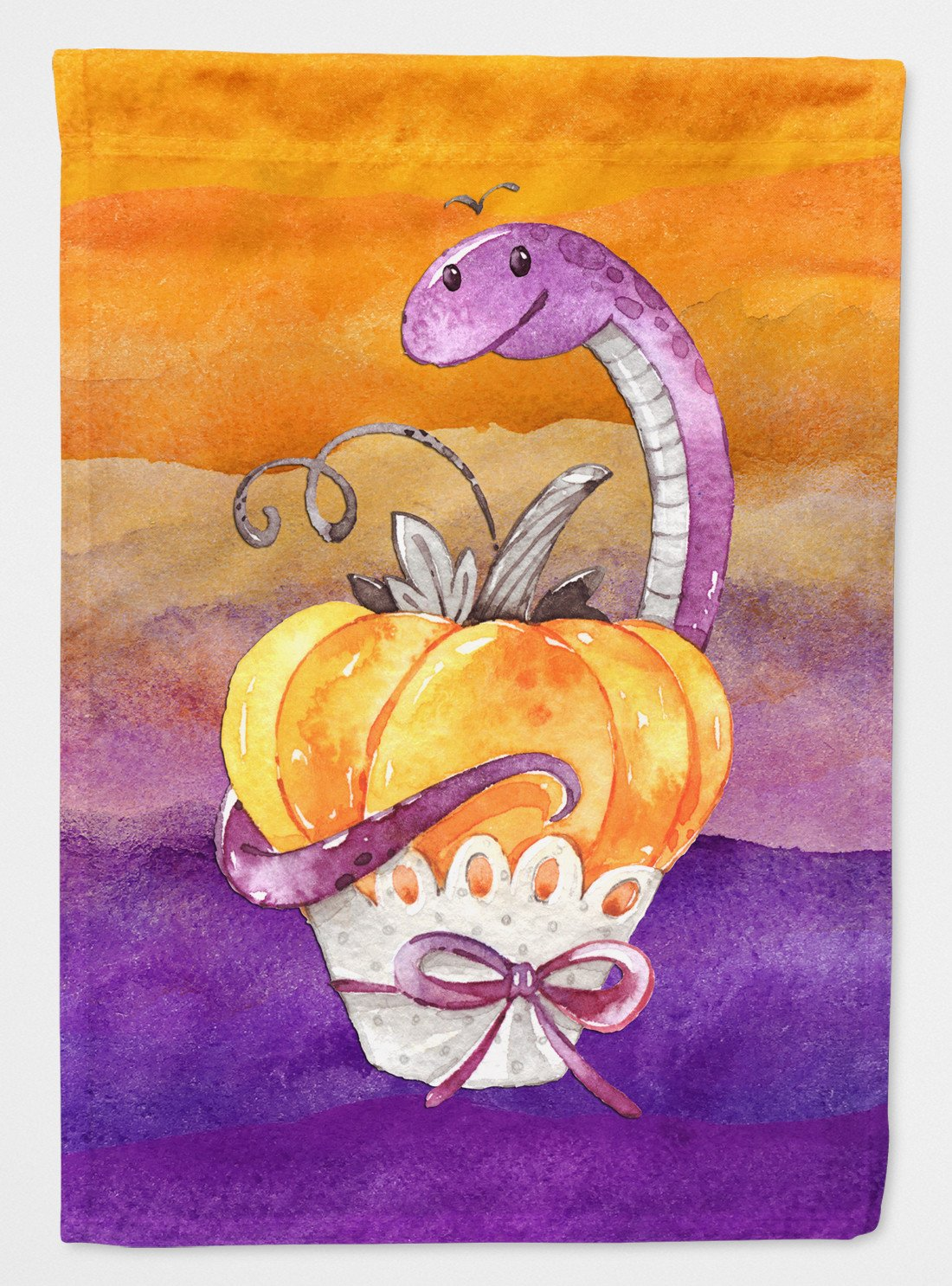 Buy this Halloween Pumpkin Snake Flag Garden Size BB7465GF