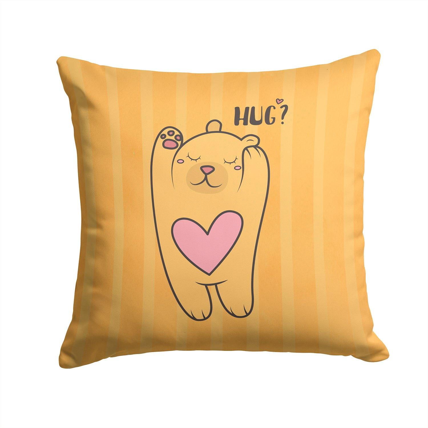 Nursery Hug Bear Fabric Decorative Pillow BB7470PW1414 by Caroline's Treasures