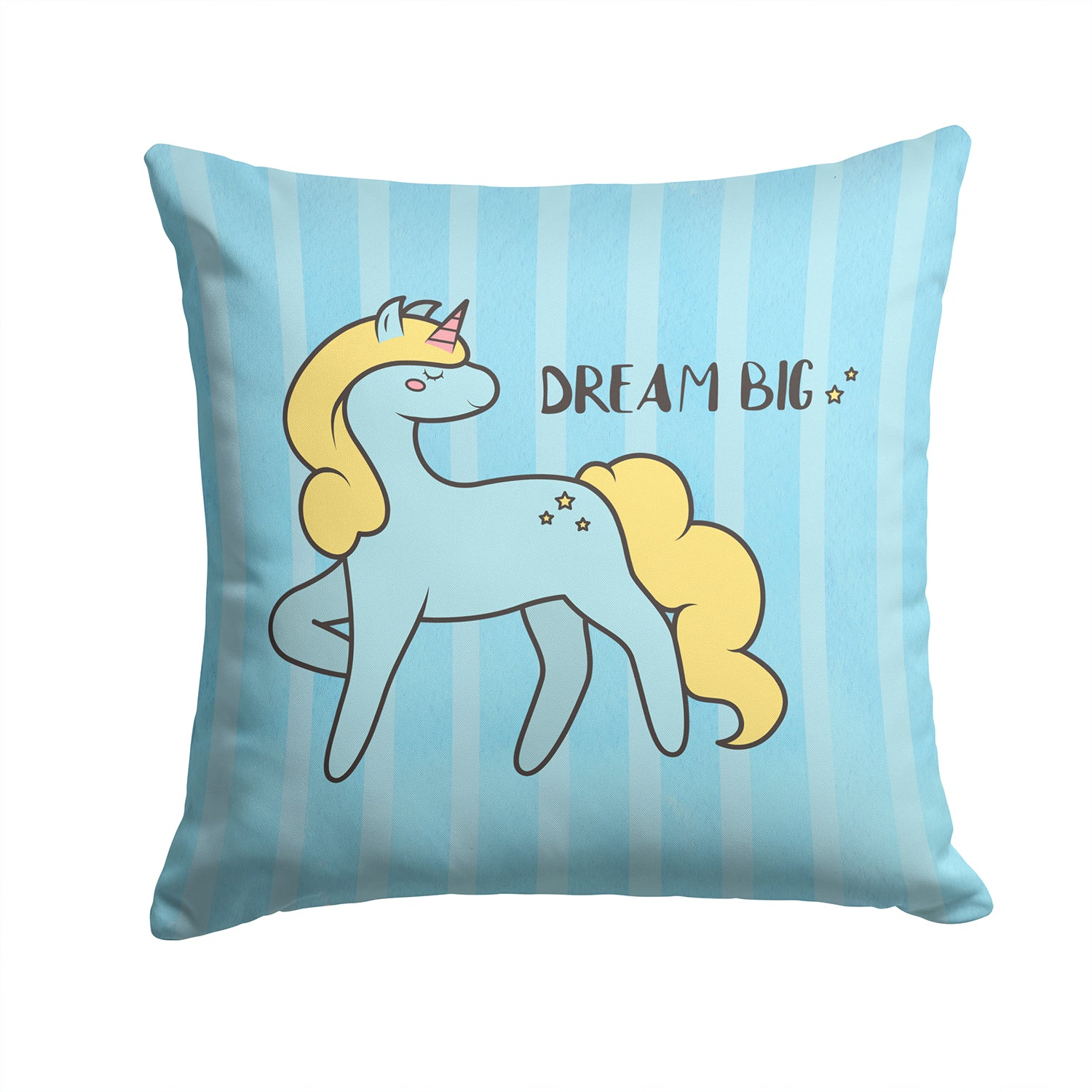 Nursery Dream Big Unicorn Fabric Decorative Pillow BB7471PW1414 by Caroline's Treasures
