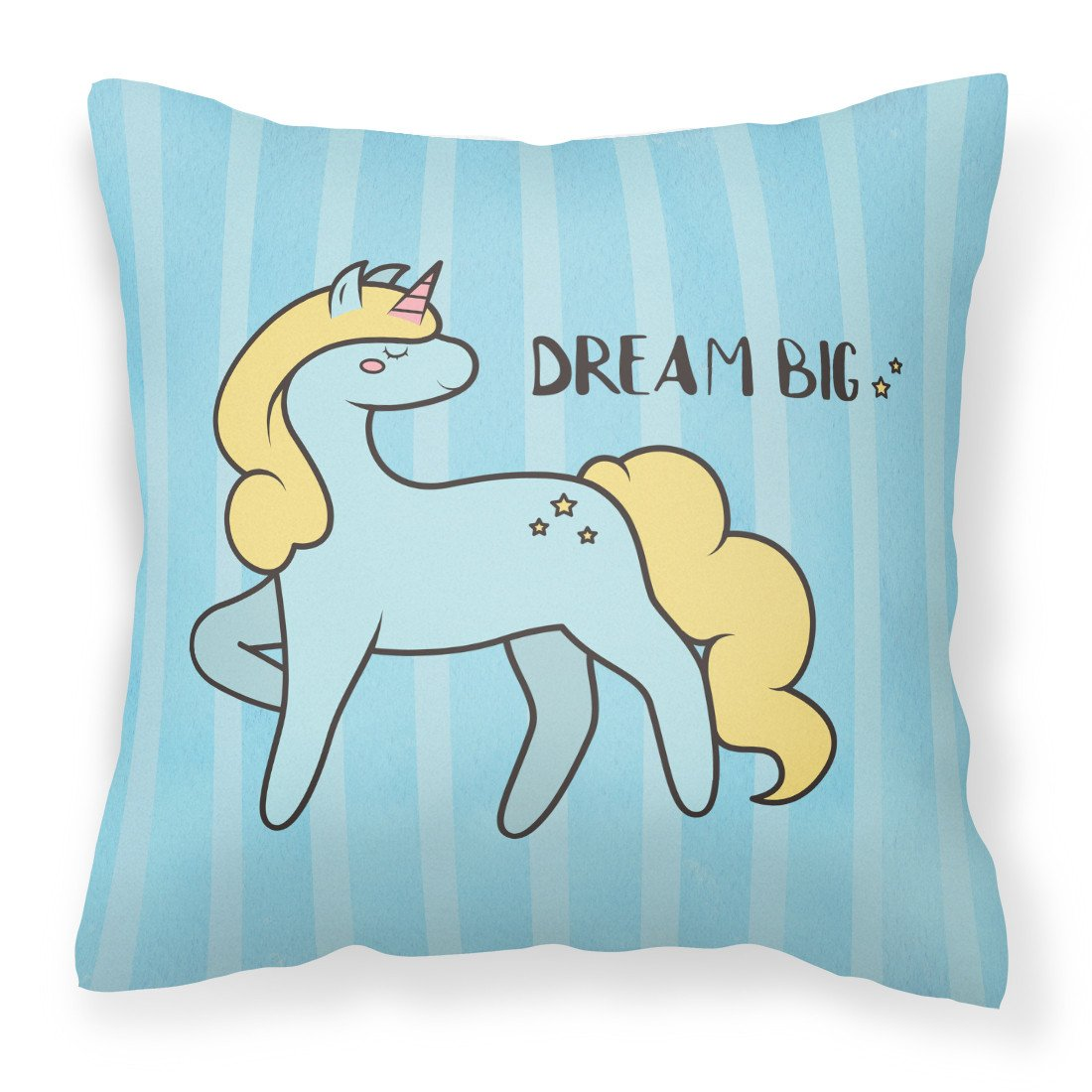 Nursery Dream Big Unicorn Fabric Decorative Pillow BB7471PW1818 by Caroline's Treasures