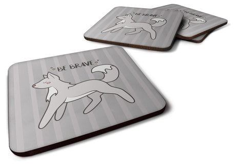 Buy this Nursery Be Brave Wolf Foam Coaster Set of 4 BB7472FC