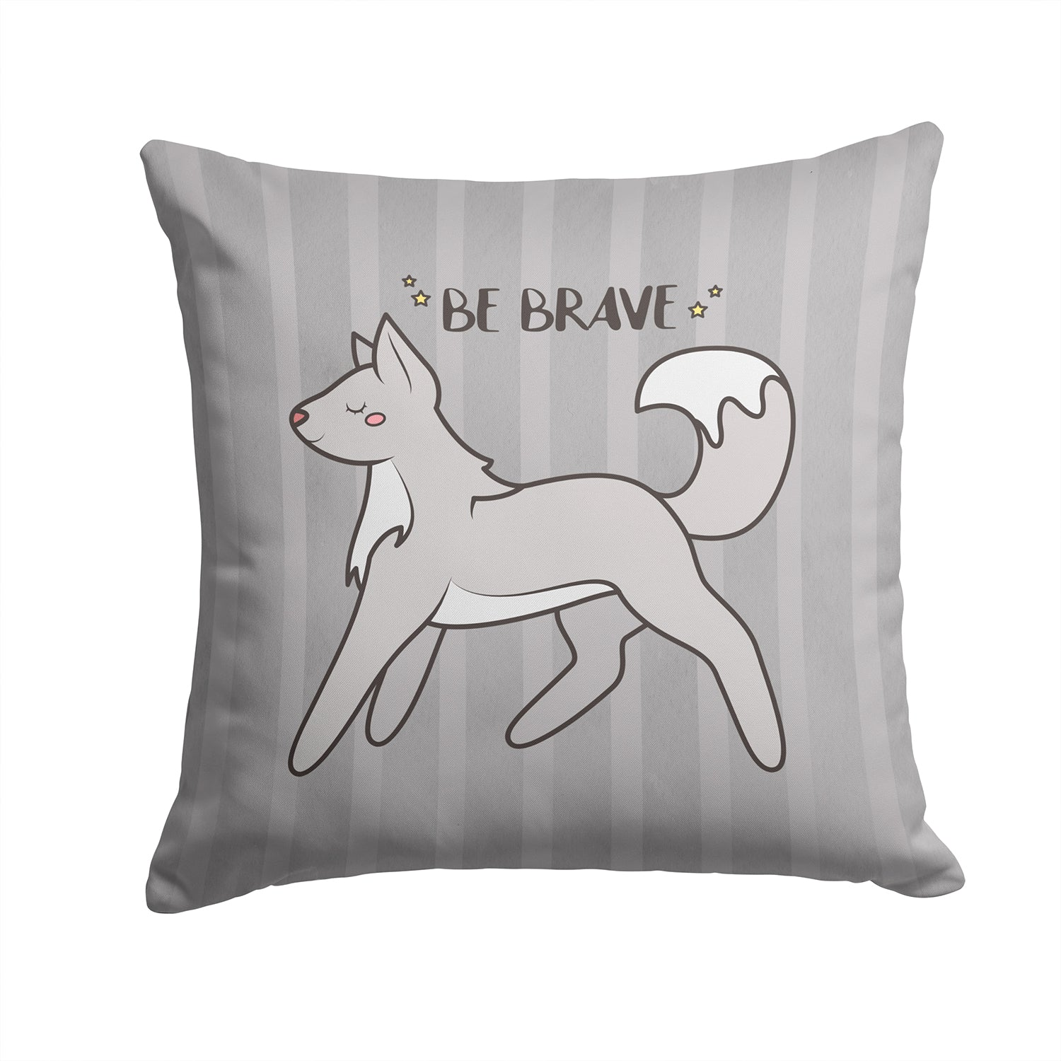Nursery Be Brave Wolf Fabric Decorative Pillow BB7472PW1414 by Caroline's Treasures
