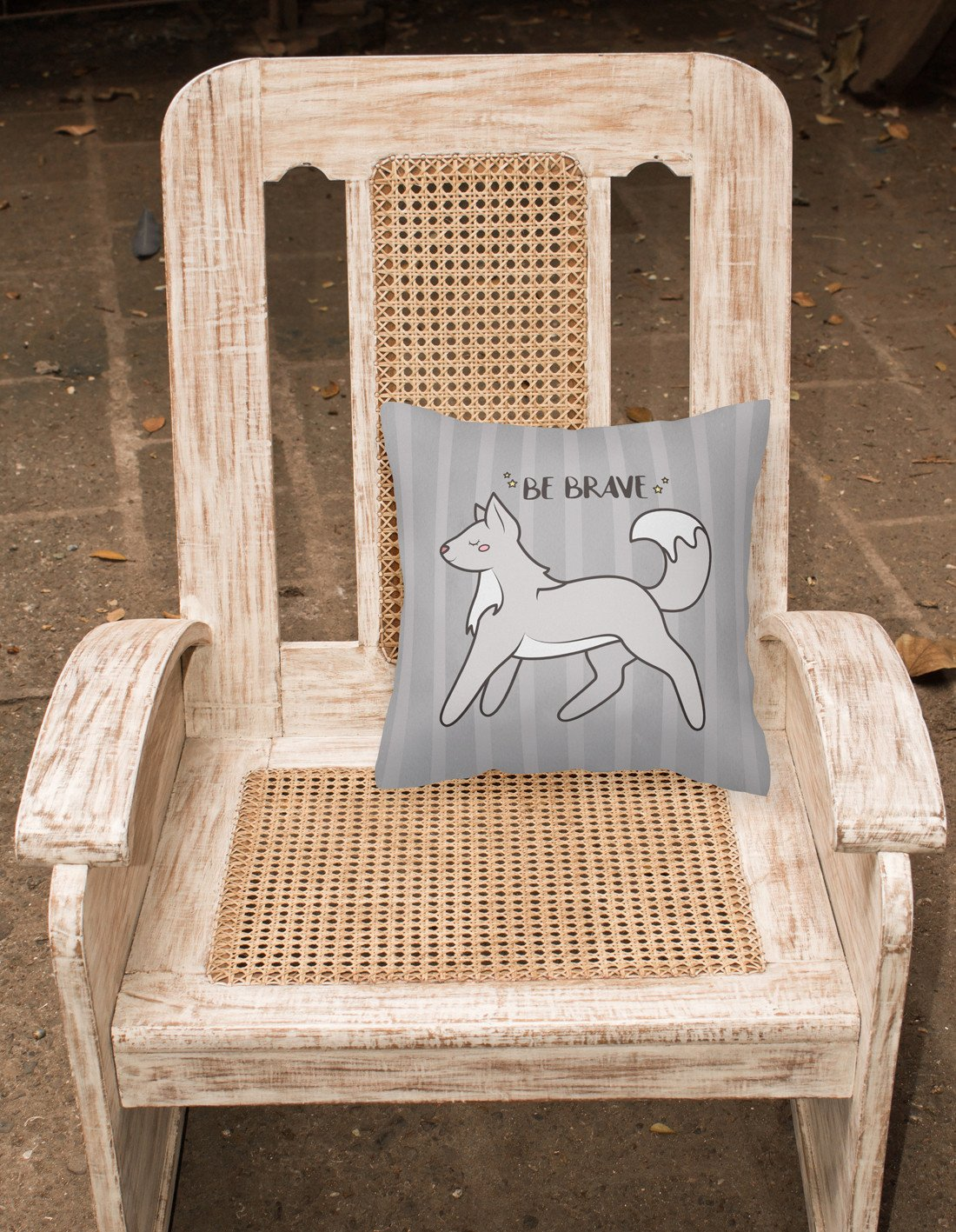 Nursery Be Brave Wolf Fabric Decorative Pillow BB7472PW1818 by Caroline's Treasures