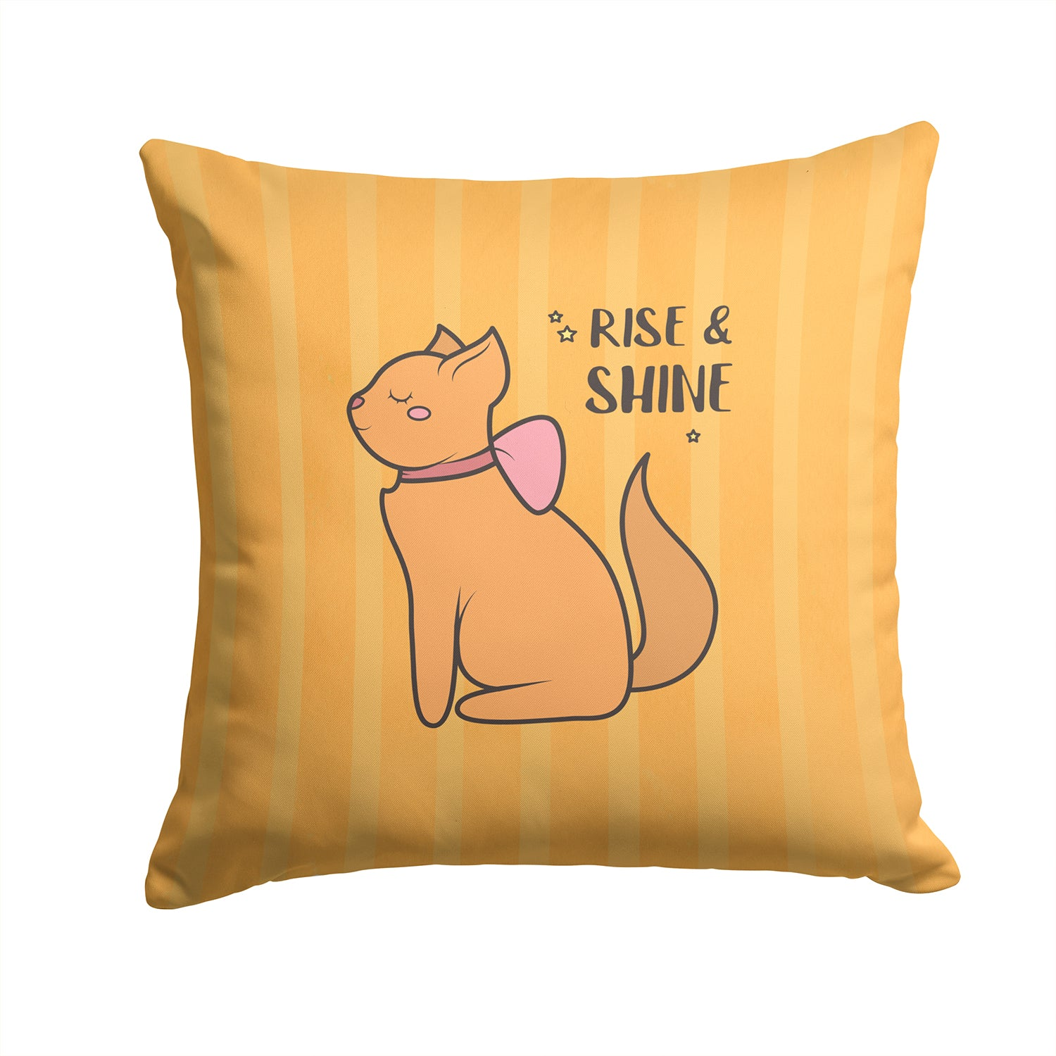 Nursery Rise and Shine Cat Fabric Decorative Pillow BB7473PW1414 by Caroline's Treasures
