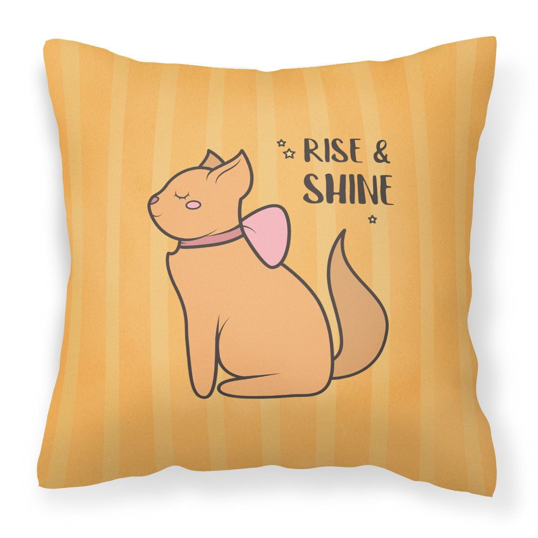 Nursery Rise and Shine Cat Fabric Decorative Pillow BB7473PW1818 by Caroline's Treasures