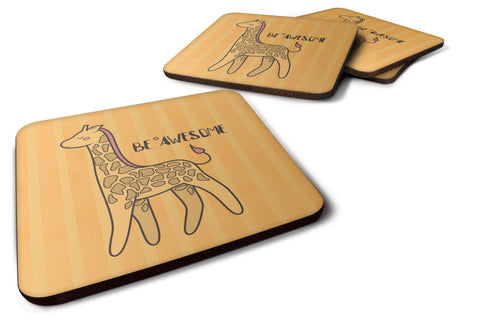 Buy this Nursery Be Awesome Griaffe Foam Coaster Set of 4 BB7474FC