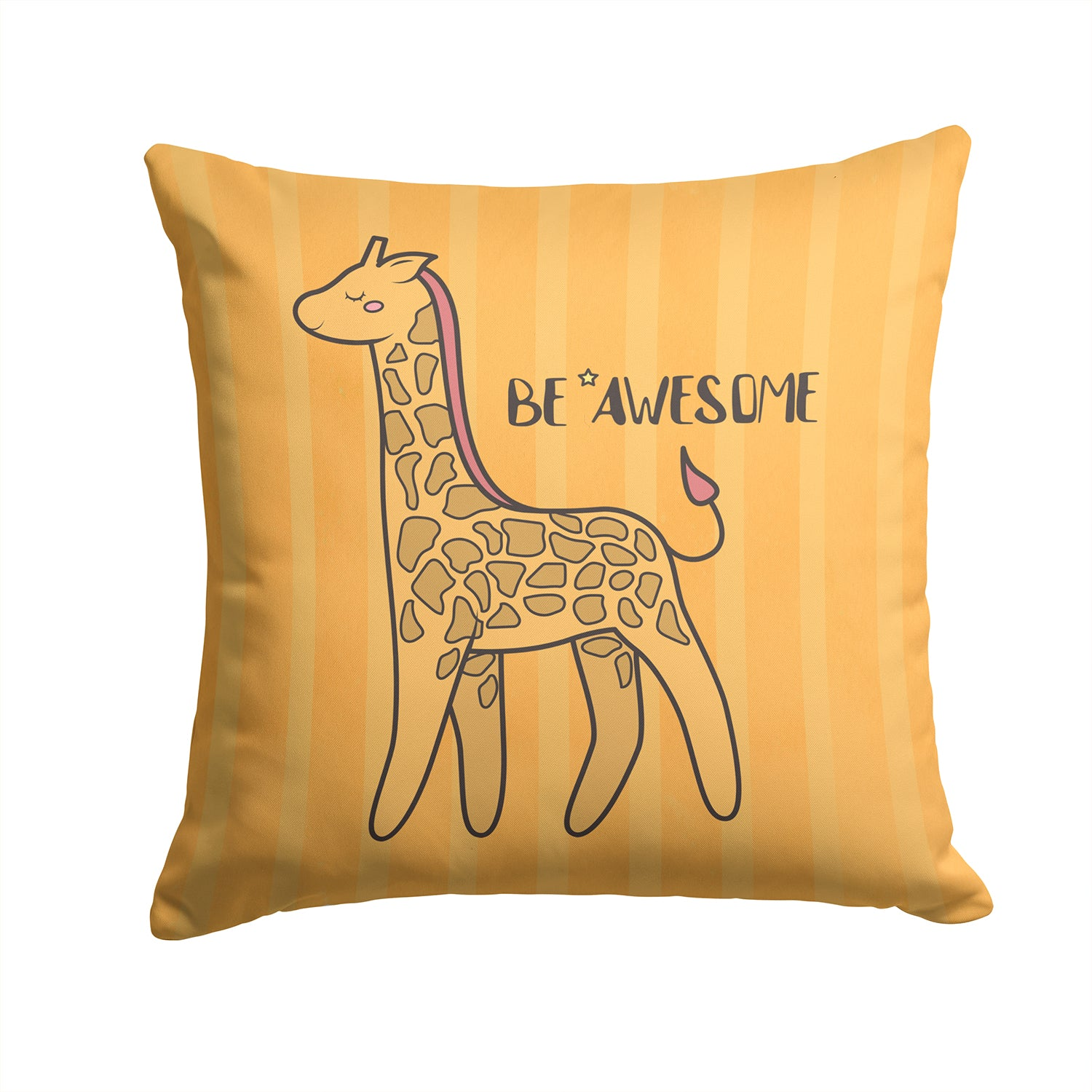 Nursery Be Awesome Griaffe Fabric Decorative Pillow BB7474PW1414 by Caroline's Treasures