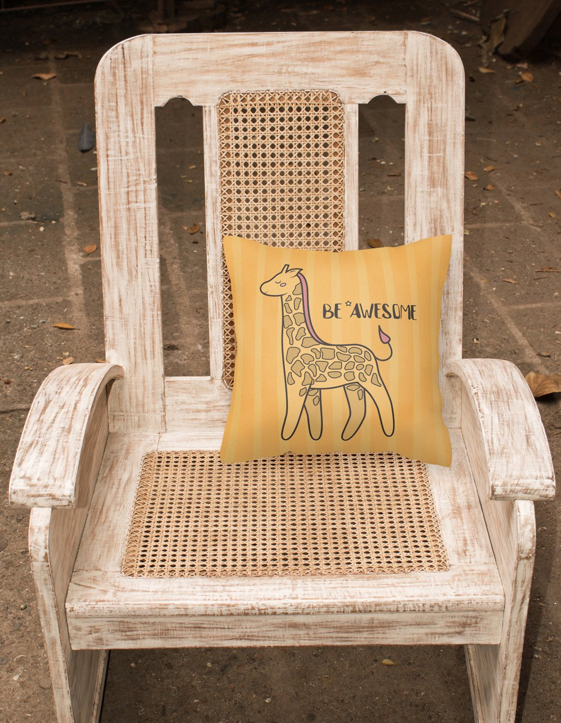 Nursery Be Awesome Griaffe Fabric Decorative Pillow BB7474PW1818 by Caroline's Treasures