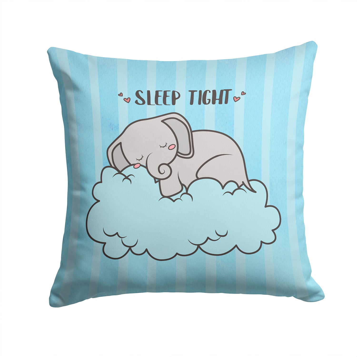 Nursery Sleep Tight Elephant Fabric Decorative Pillow BB7475PW1414 by Caroline's Treasures