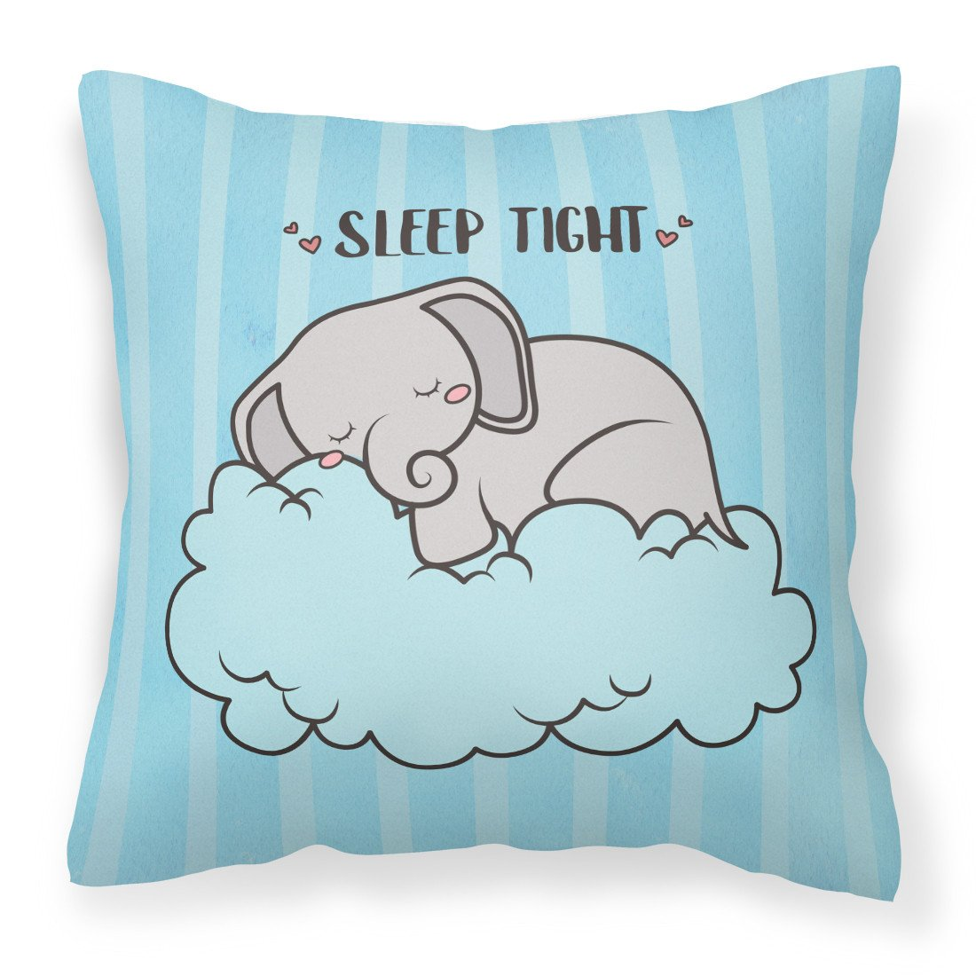 Nursery Sleep Tight Elephant Fabric Decorative Pillow BB7475PW1818 by Caroline's Treasures