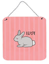 Nursery Love Bunny Rabbit Wall or Door Hanging Prints by Caroline's Treasures
