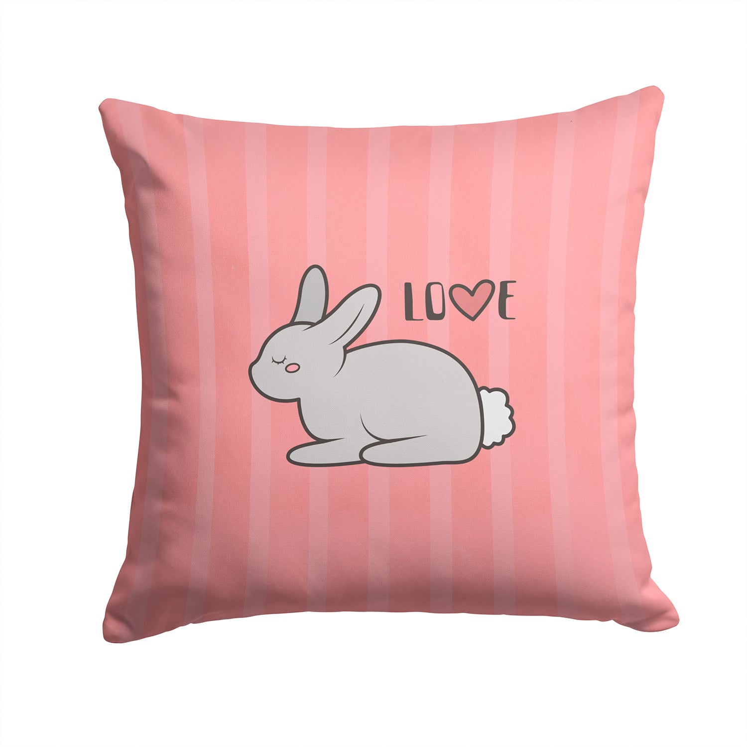 Nursery Love Bunny Rabbit Fabric Decorative Pillow BB7476PW1414 by Caroline's Treasures