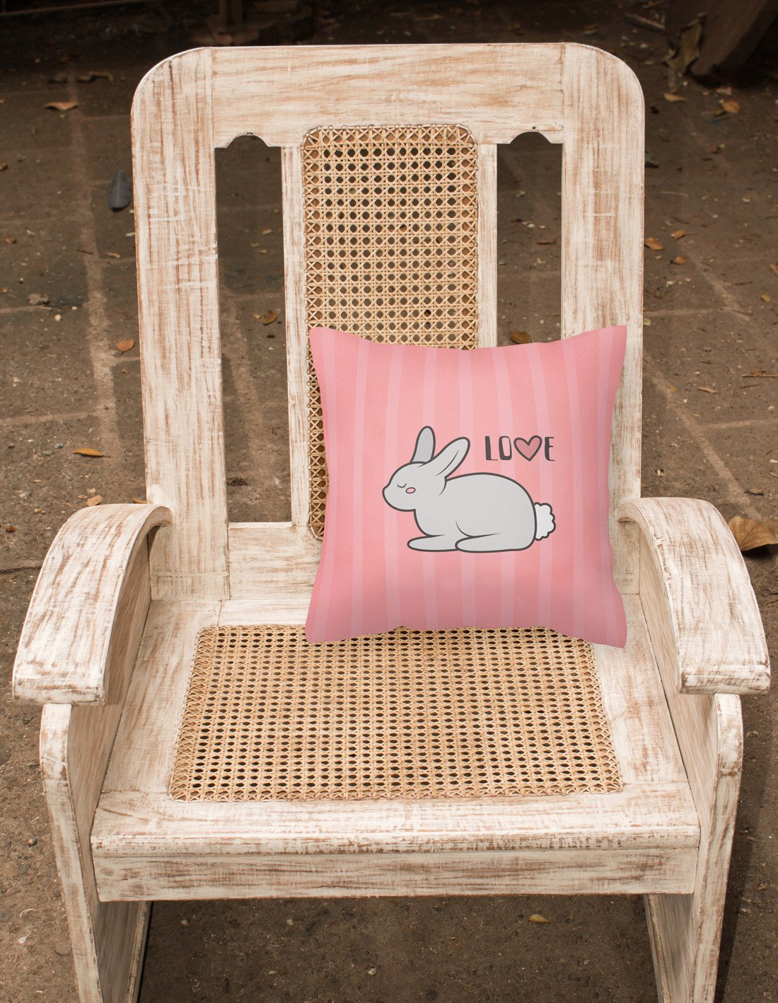 Nursery Love Bunny Rabbit Fabric Decorative Pillow BB7476PW1818 by Caroline's Treasures