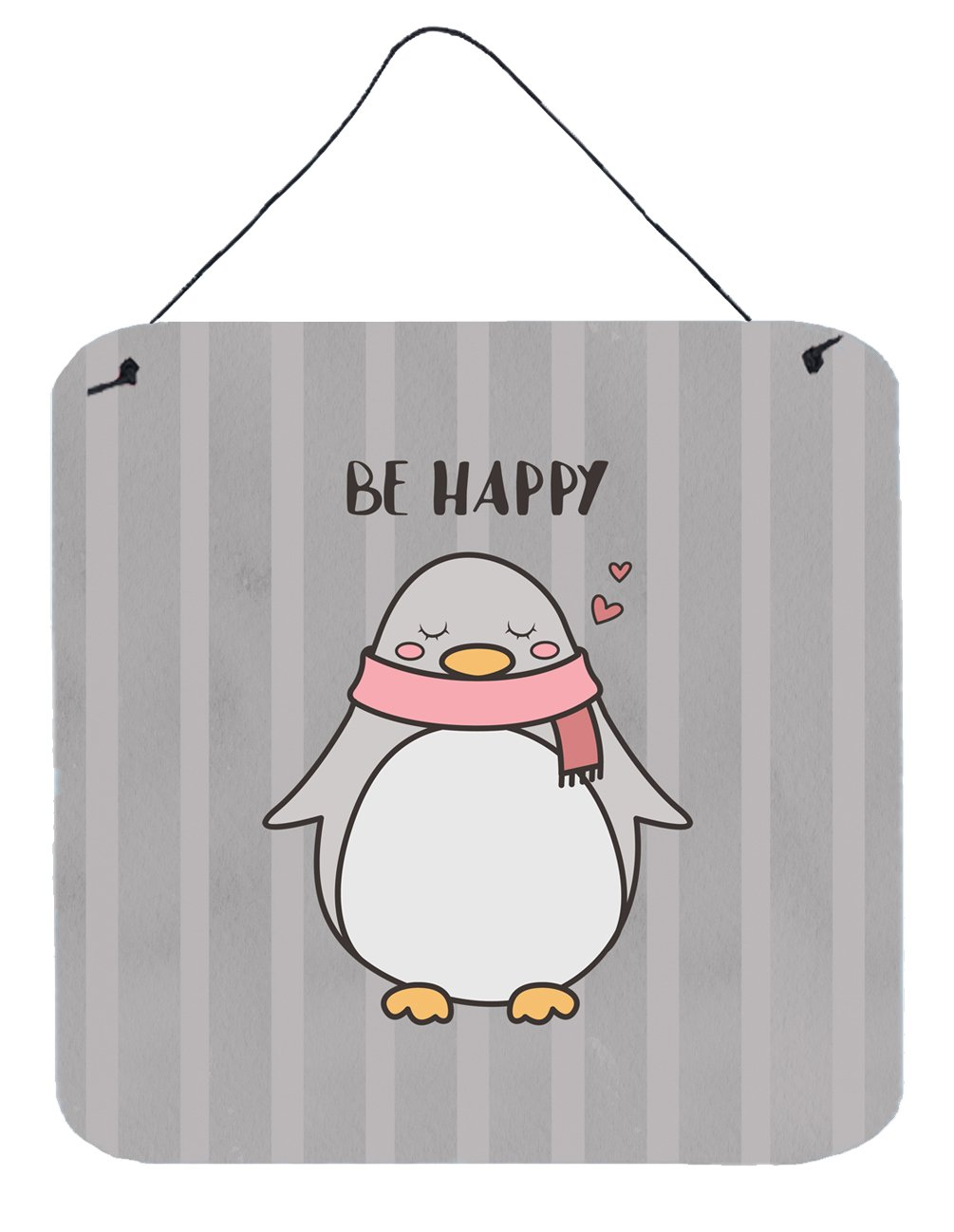 Buy this Nursery Be Happy Penquin Wall or Door Hanging Prints