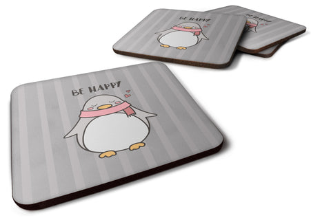 Buy this Nursery Be Happy Penquin Foam Coaster Set of 4 BB7478FC