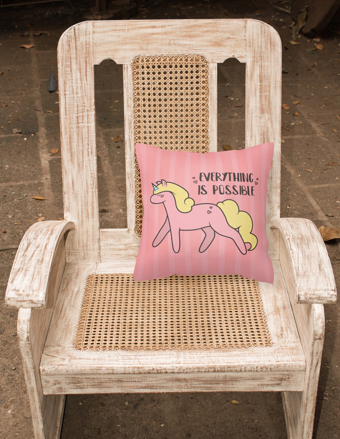 Nursery Everything is Possible Unicorn Fabric Decorative Pillow BB7479PW1818 by Caroline's Treasures