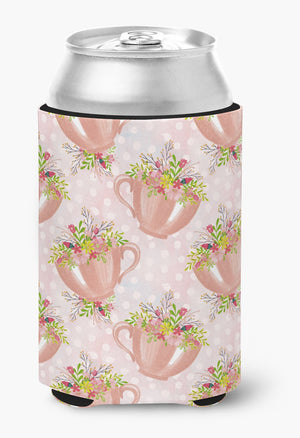 Buy this Tea Cup and Flowers Pink Can or Bottle Hugger BB7481CC