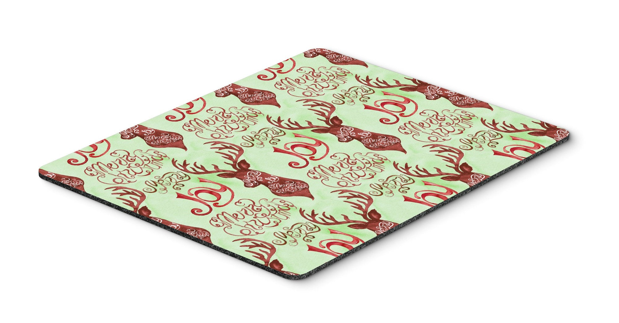 Buy this Merry Christmas Joy Reindeer Mouse Pad, Hot Pad or Trivet BB7488MP