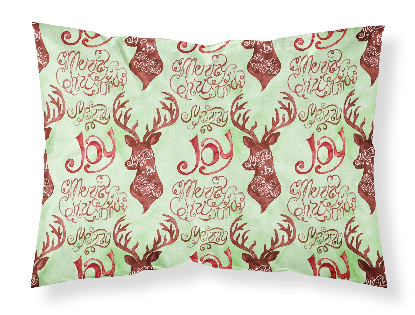 Buy this Merry Christmas Joy Reindeer Fabric Standard Pillowcase BB7488PILLOWCASE