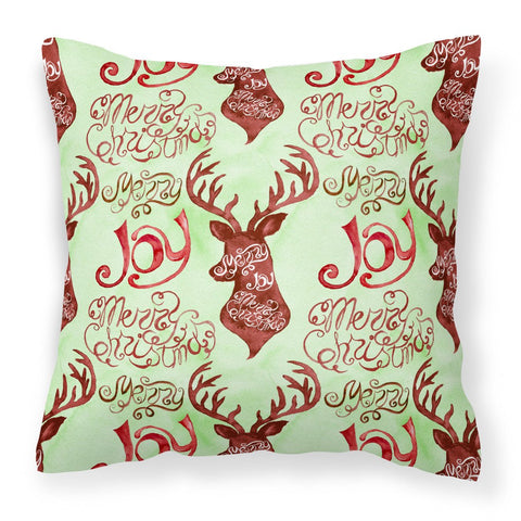 Buy this Merry Christmas Joy Reindeer Fabric Decorative Pillow BB7488PW1818