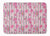 Watercolor Pink Flowers Grey Stripes Machine Washable Memory Foam Mat BB7502RUG by Caroline's Treasures