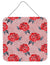 Buy this Watercolor Red Roses and Polkadots Wall or Door Hanging Prints BB7513DS66