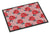 Buy this Watercolor Red Roses and Polkadots Indoor or Outdoor Mat 24x36 BB7513JMAT