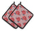 Buy this Watercolor Red Roses and Polkadots Pair of Pot Holders BB7513PTHD