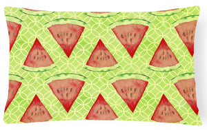 Buy this Watercolor Watermelon Canvas Fabric Decorative Pillow BB7518PW1216