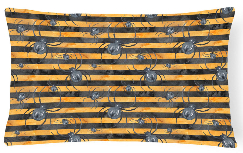 Buy this Watecolor Halloween Spiders Canvas Fabric Decorative Pillow BB7526PW1216