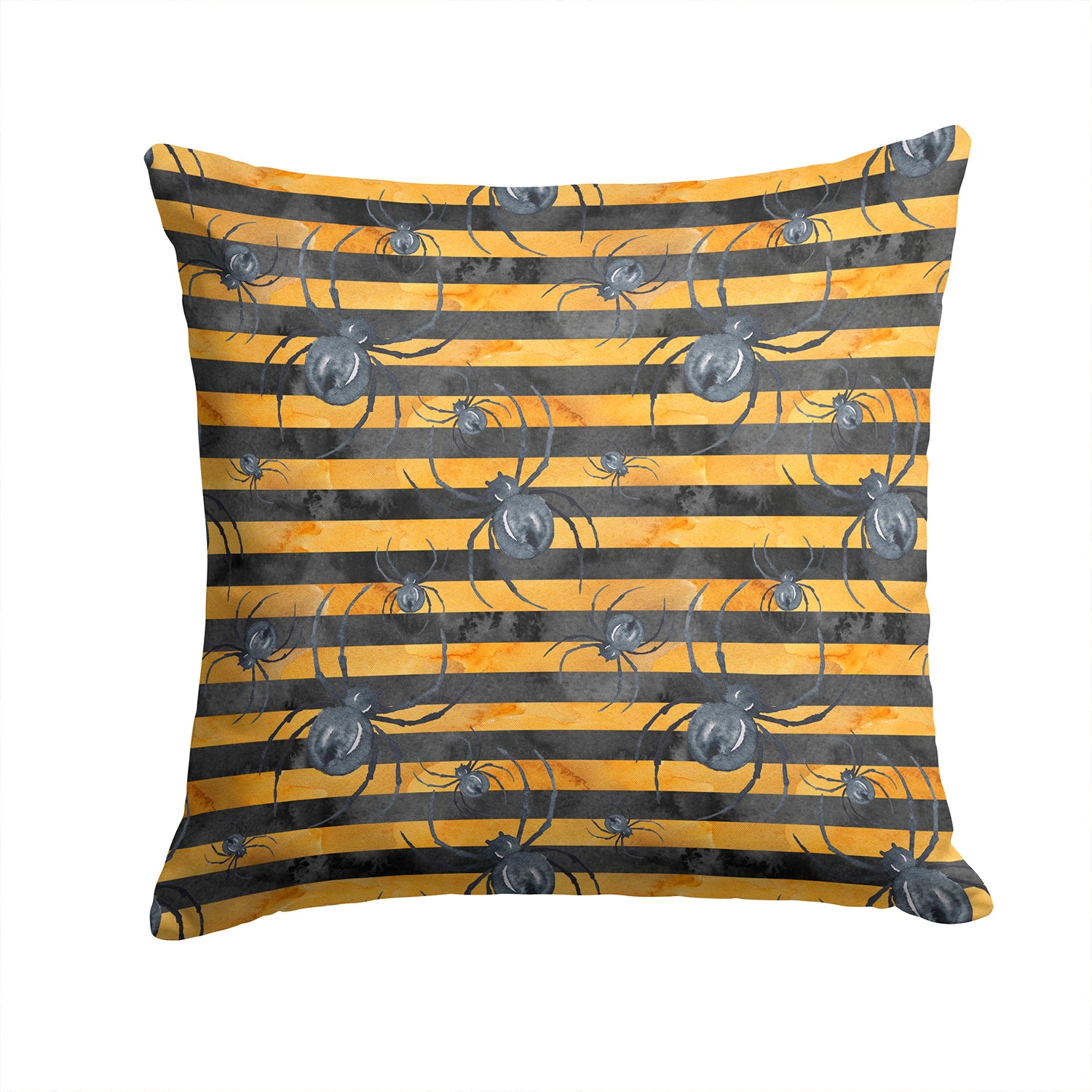 Buy this Watecolor Halloween Spiders Fabric Decorative Pillow BB7526PW1414