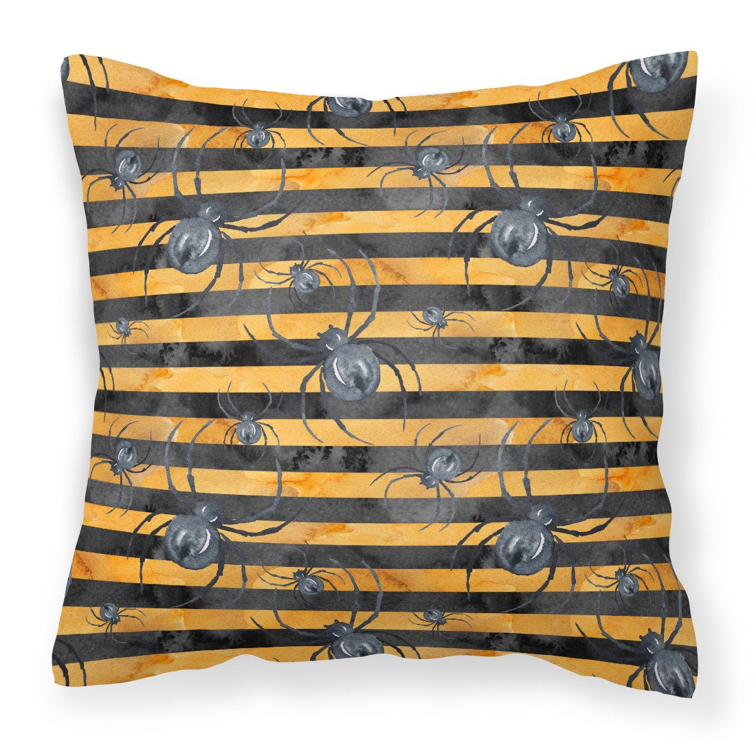Buy this Watecolor Halloween Spiders Fabric Decorative Pillow BB7526PW1818