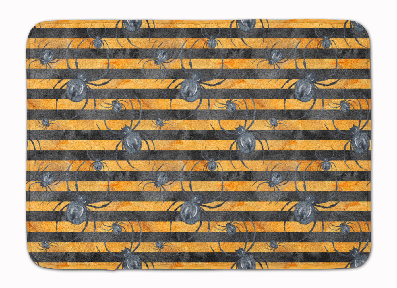 Buy this Watecolor Halloween Spiders Machine Washable Memory Foam Mat BB7526RUG