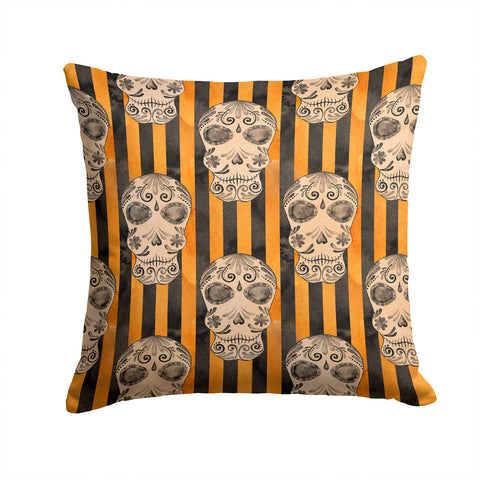 Buy this Watecolor Halloween Day of the Dead Head Fabric Decorative Pillow BB7527PW1414