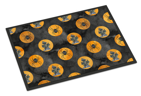 Buy this Watecolor Halloween Circles Indoor or Outdoor Mat 18x27 BB7529MAT