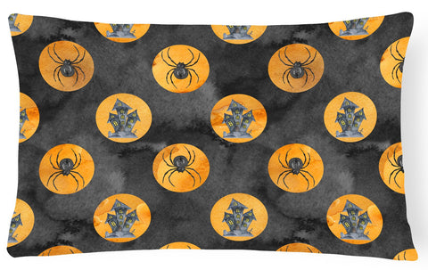 Buy this Watecolor Halloween Circles Canvas Fabric Decorative Pillow BB7529PW1216