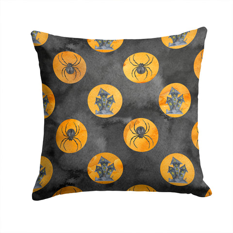 Buy this Watecolor Halloween Circles Fabric Decorative Pillow BB7529PW1414