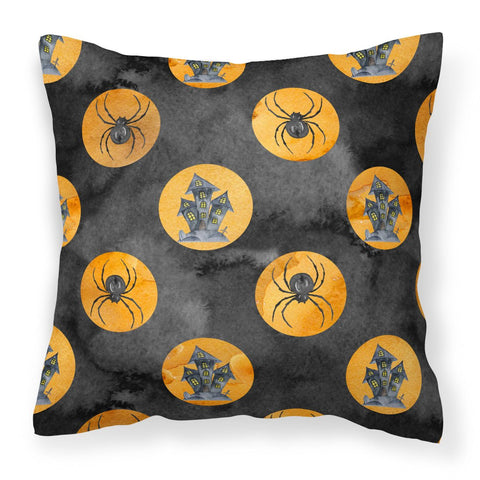 Buy this Watecolor Halloween Circles Fabric Decorative Pillow BB7529PW1818