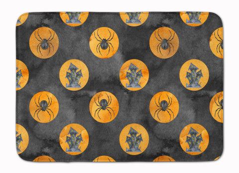 Buy this Watecolor Halloween Circles Machine Washable Memory Foam Mat BB7529RUG