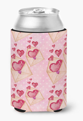 Buy this Watercolor Pink Love Letter Can or Bottle Hugger BB7568CC