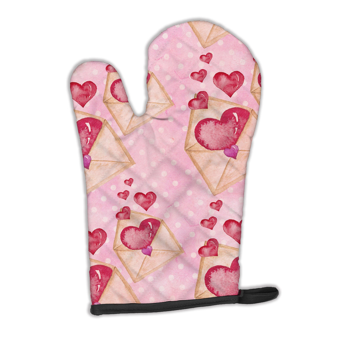 Watercolor Pink Love Letter Oven Mitt BB7568OVMT by Caroline's Treasures