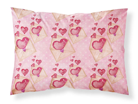 Buy this Watercolor Pink Love Letter Fabric Standard Pillowcase BB7568PILLOWCASE